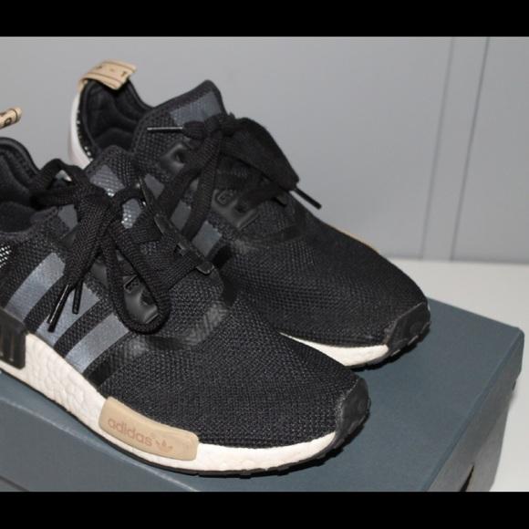 d90ac9eb1 adidas Shoes - Women s Adidas nmd r1 Black tan white Like New